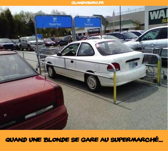 blague de blonde supermarché